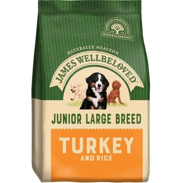 J/w junior large breed  turkey & rice